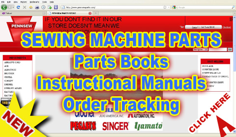 PennSew Industrial Sewing Machine Parts