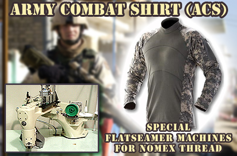 ACS Army Combat Shirt Sewing Machines